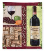 Tuscan Collage 2 Fleece Blanket