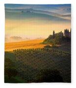 Tuscan Dawn Fleece Blanket