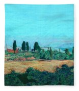 Tuscan Farm Fleece Blanket