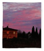 Tuscan Farmhouse And Morning Glow Fleece Blanket