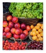Tuscan Fruit Fleece Blanket