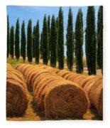 Tuscan Hay Fleece Blanket
