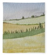 Tuscan Hillside Four Fleece Blanket