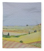 Tuscan Hillside Three Fleece Blanket