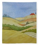 Tuscan Hillside Two Fleece Blanket