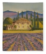 Tuscan Lavender Fleece Blanket