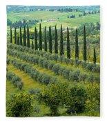 Tuscan Panoramic 3 Fleece Blanket