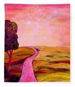 Tuscan Skies ... An Impressionist View Fleece Blanket