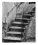Tuscan Staircase Bw Fleece Blanket