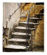 Tuscan Staircase Fleece Blanket