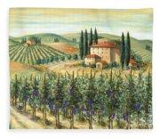 Tuscan Vineyard And Villa Fleece Blanket