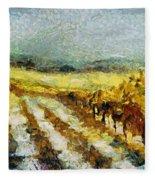Tuscan Vineyard Fleece Blanket