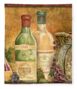 Tuscan Wine-a Fleece Blanket