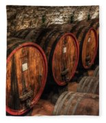 Tuscan Wine Cellar Fleece Blanket