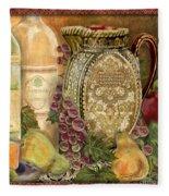 Tuscan Wine-d Fleece Blanket