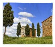 Tuscany - Cappella Di Vitaleta Fleece Blanket