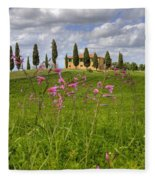 Tuscany - Pienza Fleece Blanket