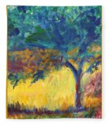 Tuscany Hill Side Shadows Fleece Blanket