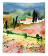 Tuscany Landscape 02 Fleece Blanket
