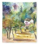 Tuscany Landscape 05 Fleece Blanket