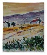 Tuscany Landscape 1 Fleece Blanket