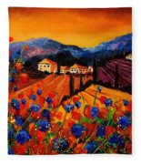 Tuscany Poppies Fleece Blanket