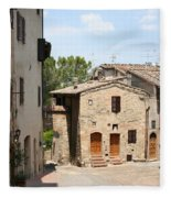 Tuscany Street Fleece Blanket