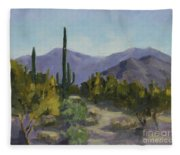 The Serene Desert Fleece Blanket
