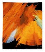 Tutu Stage Left Abstract Orange Fleece Blanket