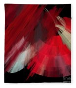 Tutu Stage Left Red Abstract Fleece Blanket