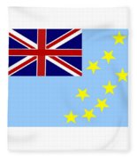 Tuvalu Flag Fleece Blanket