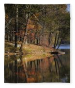 Tuxedo Lake Autumn Fleece Blanket