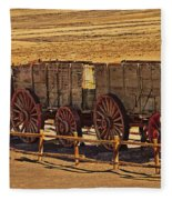 Twenty-mule Team In Sepia Fleece Blanket