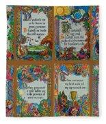 Twenty Third Psalm Collage Fleece Blanket