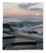 Twilight At Cape May In October Fleece Blanket