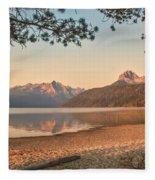 Twilight At Redfish Lake  Fleece Blanket