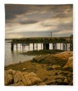 Twilight Cape Porpoise Maine Fleece Blanket