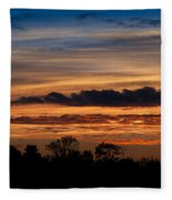 Twilight Colorful Sunset Fleece Blanket