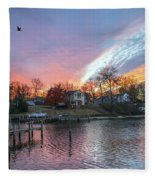 Twilight Colors Fleece Blanket