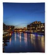 Twilight Docks Fleece Blanket