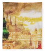Twilight In Praha Fleece Blanket