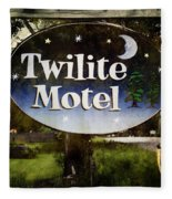 Twilight Motel Fleece Blanket