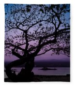 Twilight On Hilo Bay Hawaii Fleece Blanket