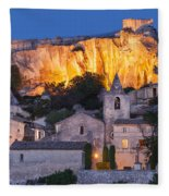 Twilight Over Les Baux Fleece Blanket