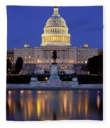 Twilight Over Us Capitol Fleece Blanket