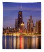 Twilight Reflected Fleece Blanket