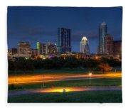 Twilight Skyline Fleece Blanket