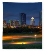 Twilight Skyline Fleece Blanket