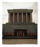 Twilit Ho Chi Minh Mausoleum Fleece Blanket