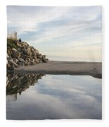 Twin Lakes Beach Fleece Blanket